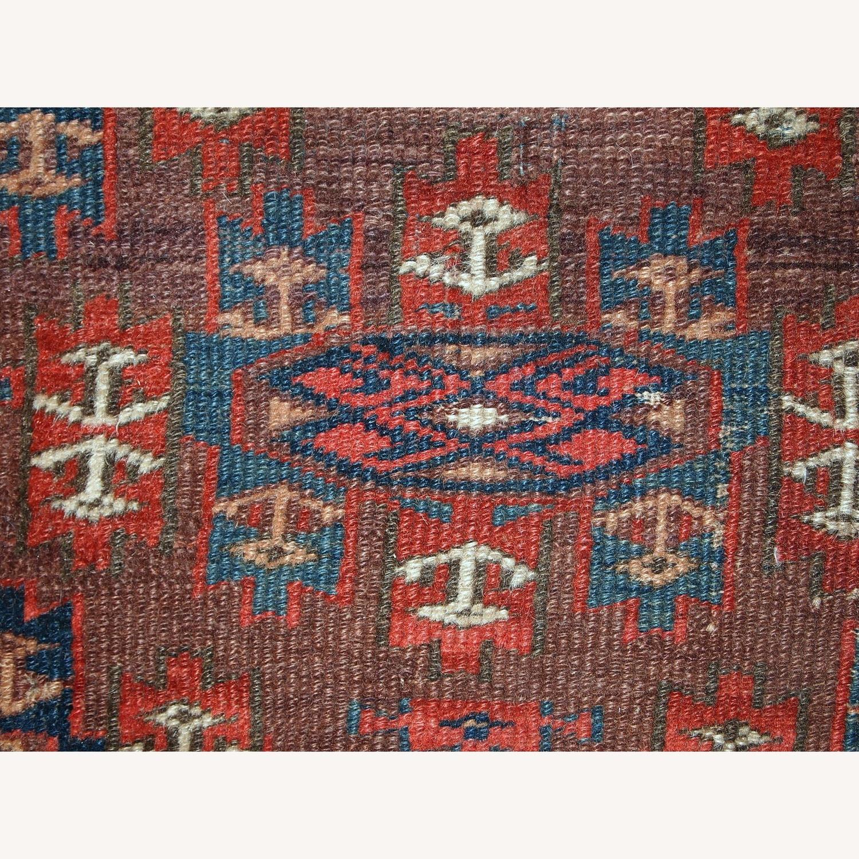 Handmade Antique Collectible Turkmen Yomud Rug - image-5