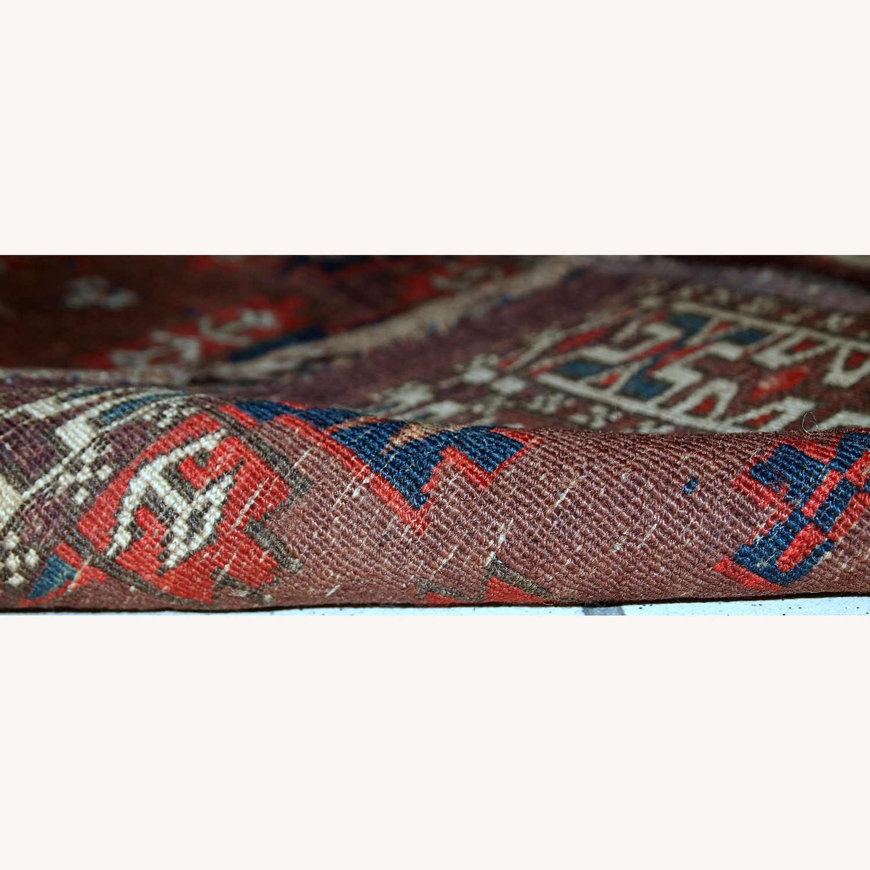 Handmade Antique Collectible Turkmen Yomud Rug - image-2