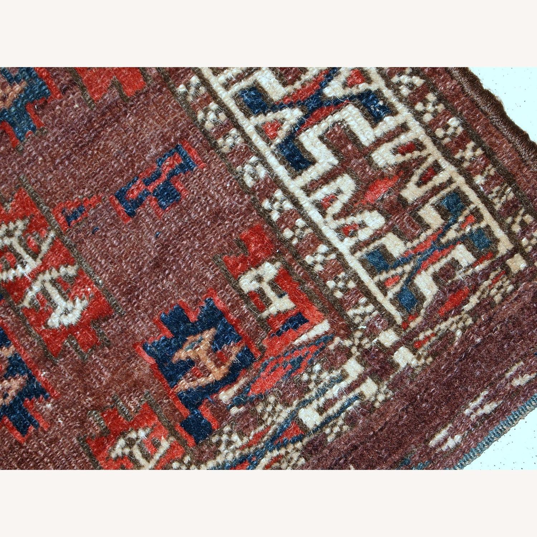 Handmade Antique Collectible Turkmen Yomud Rug - image-9