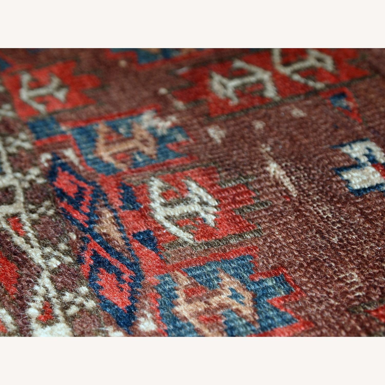 Handmade Antique Collectible Turkmen Yomud Rug - image-8