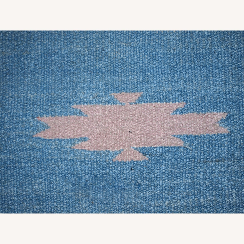 Handmade Vintage Indian Dhurri Rug - image-4
