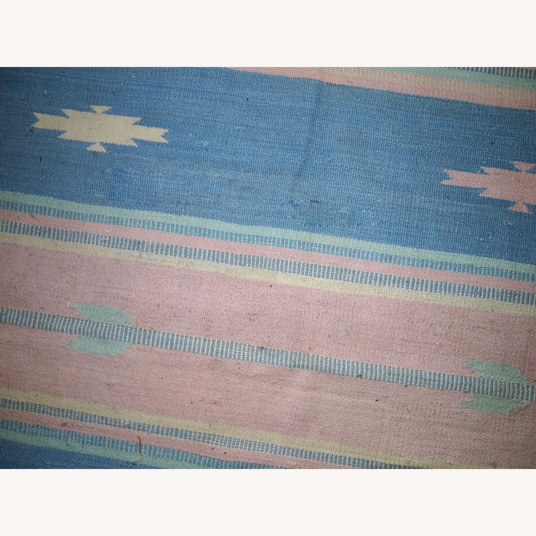 Handmade Vintage Indian Dhurri Rug - image-5