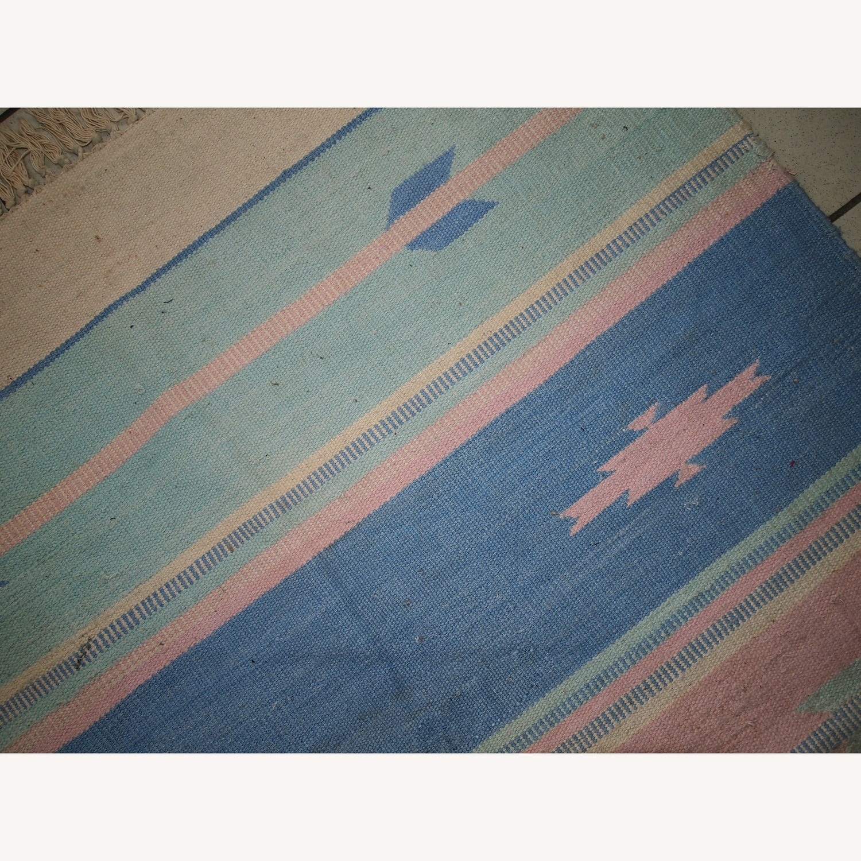 Handmade Vintage Indian Dhurri Rug - image-9