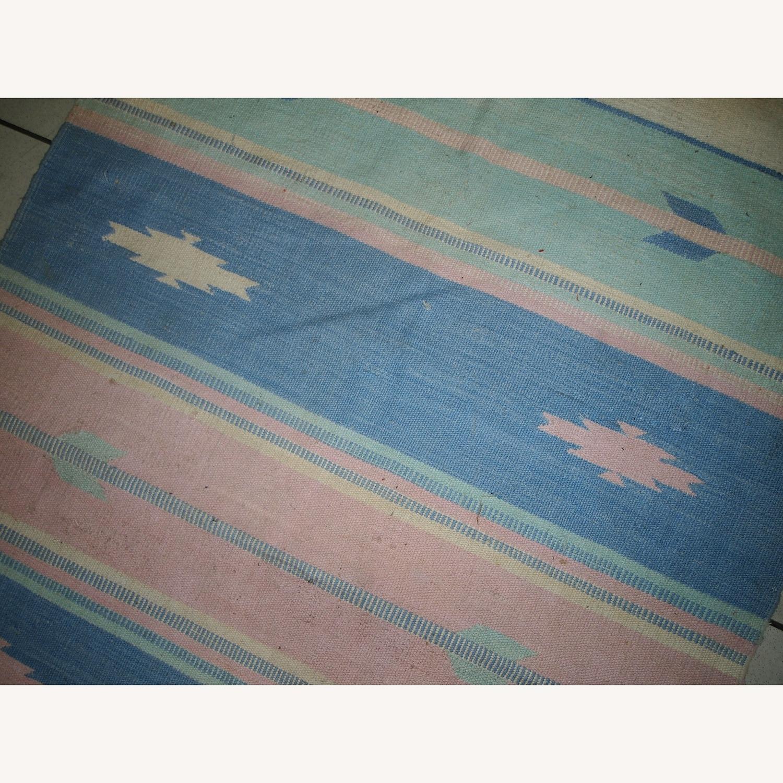 Handmade Vintage Indian Dhurri Rug - image-3