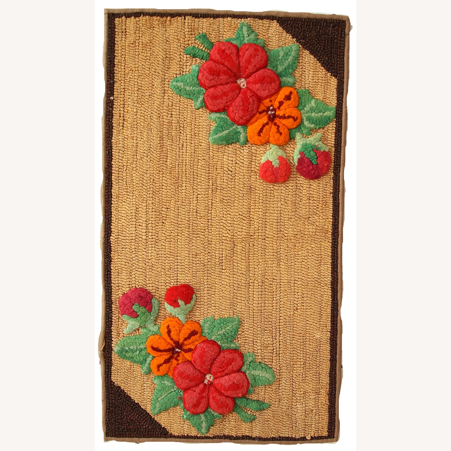 Handmade Antique American Hooked Rug - image-11