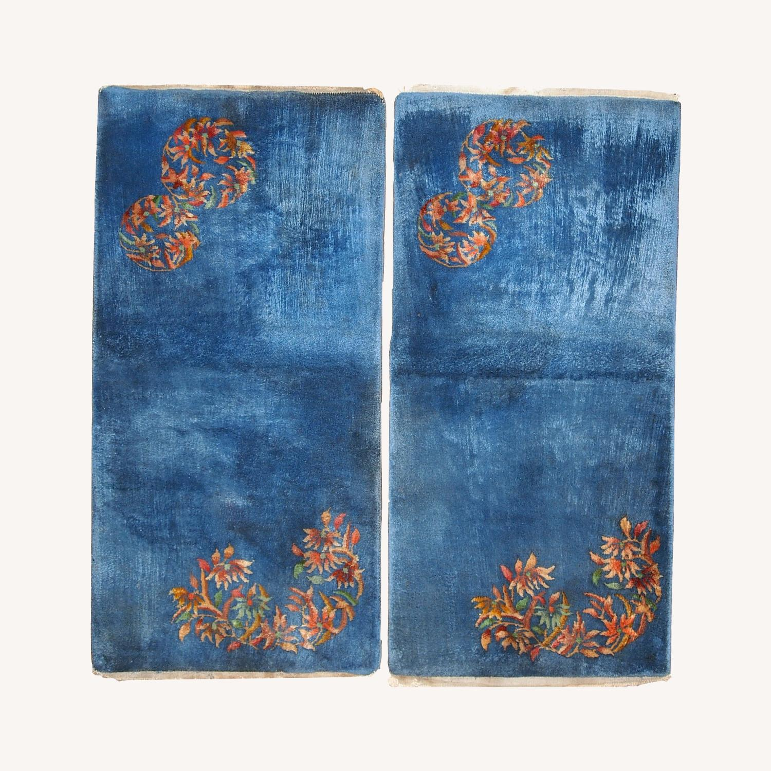 Handmade Antique Art Deco Chinese pair of rugs - image-0