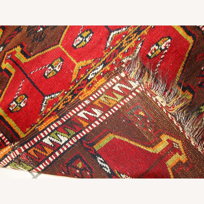 Hand made Antique Collectible Turkish Yastik Rug - image-4
