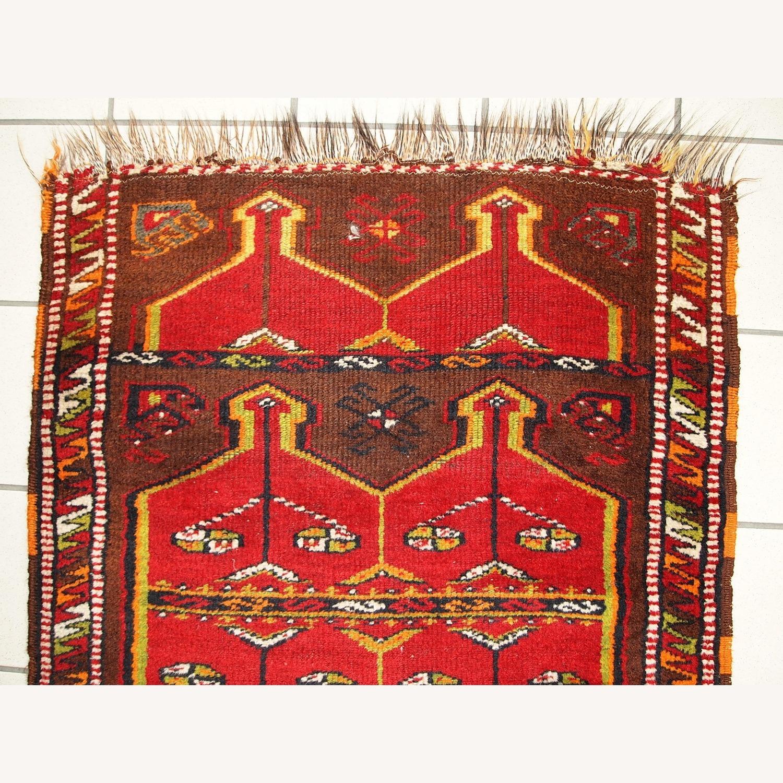 Hand made Antique Collectible Turkish Yastik Rug - image-8