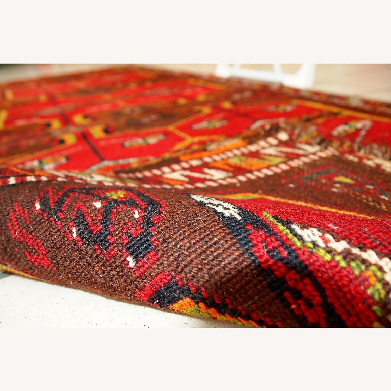 Hand made Antique Collectible Turkish Yastik Rug - image-6
