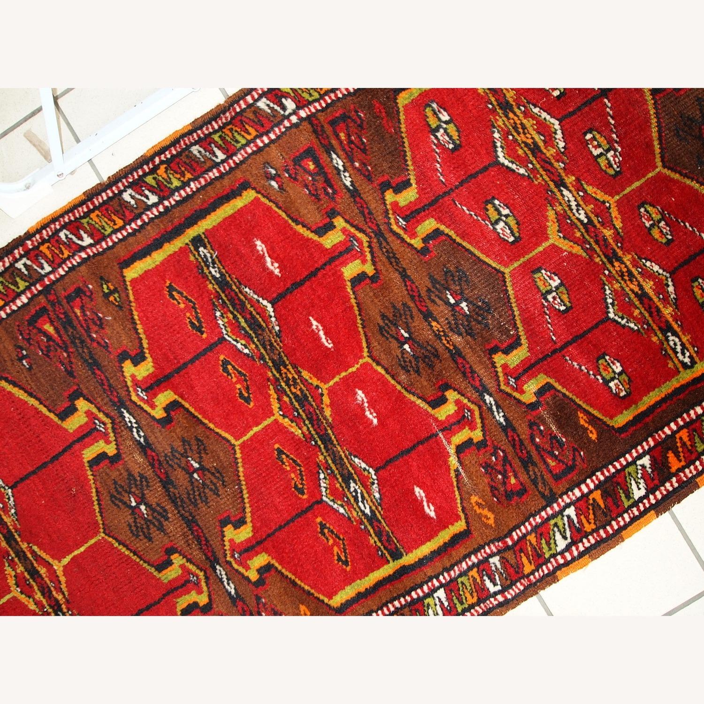 Hand made Antique Collectible Turkish Yastik Rug - image-5