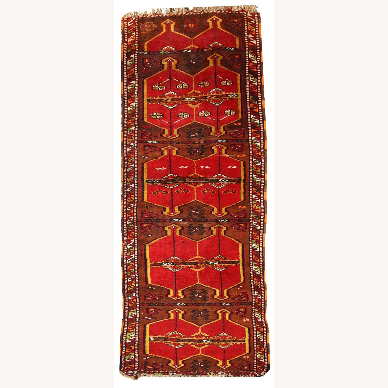 Hand made Antique Collectible Turkish Yastik Rug - image-1