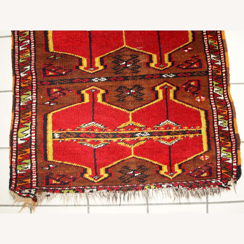 Hand made Antique Collectible Turkish Yastik Rug - image-7