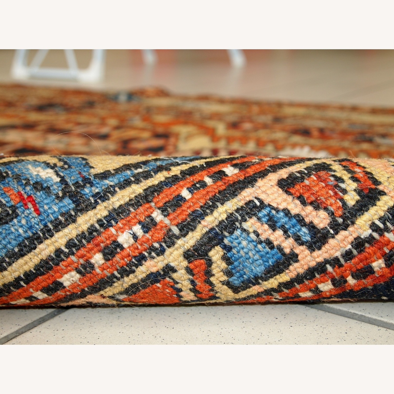 Handmade Antique Persian Heriz Runner - image-6