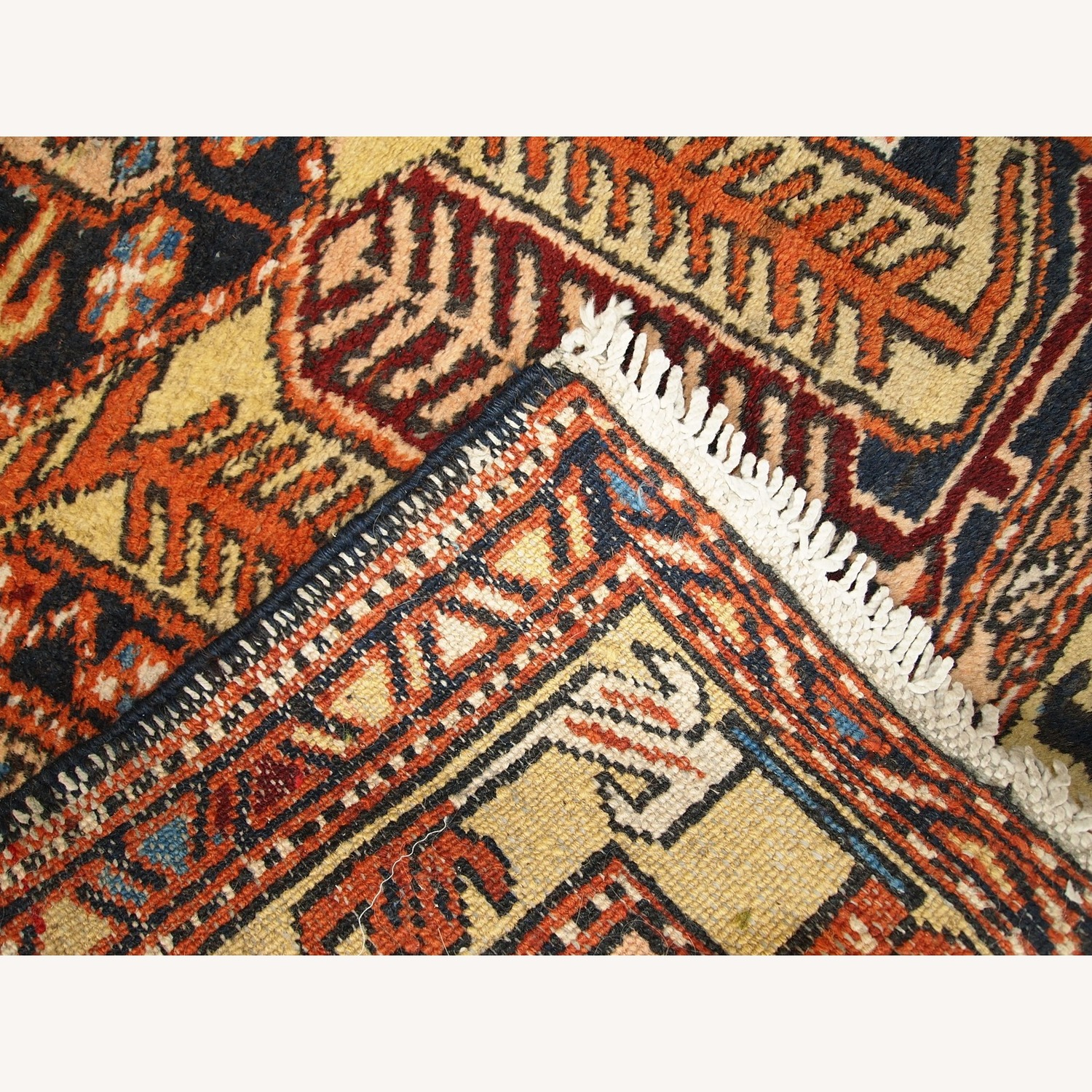 Handmade Antique Persian Heriz Runner - image-10