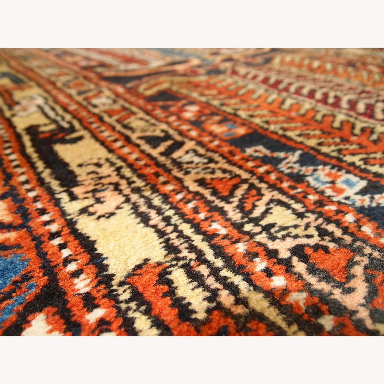 Handmade Antique Persian Heriz Runner - image-5