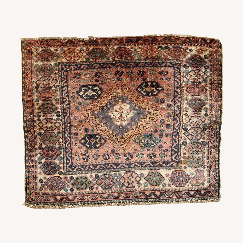 Handmade Antique Persian Kurdish Bag Face - image-0
