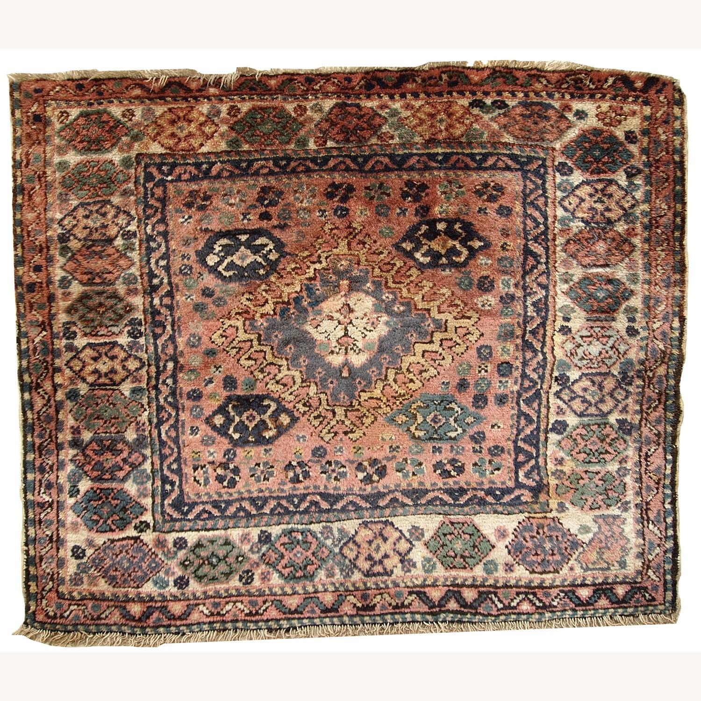 Handmade Antique Persian Kurdish Bag Face - image-1