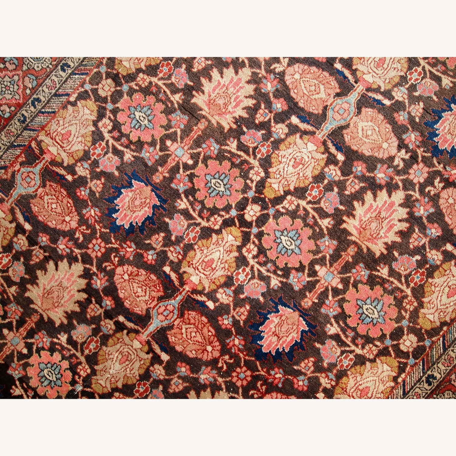 Handmade Antique Persian Bidjar Rug - image-10