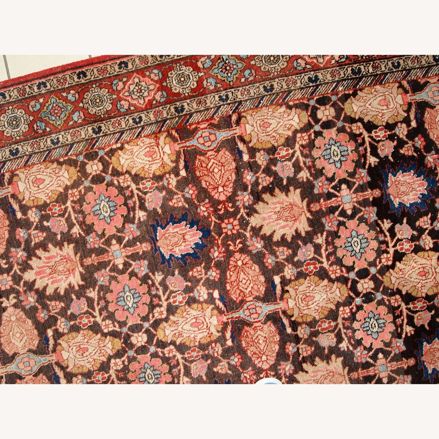 Handmade Antique Persian Bidjar Rug - image-6