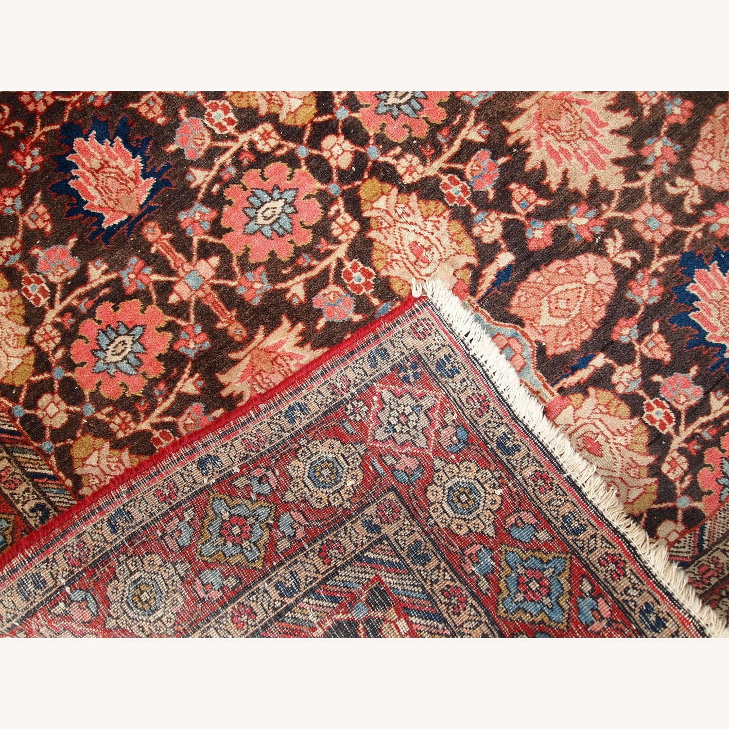 Handmade Antique Persian Bidjar Rug - image-3