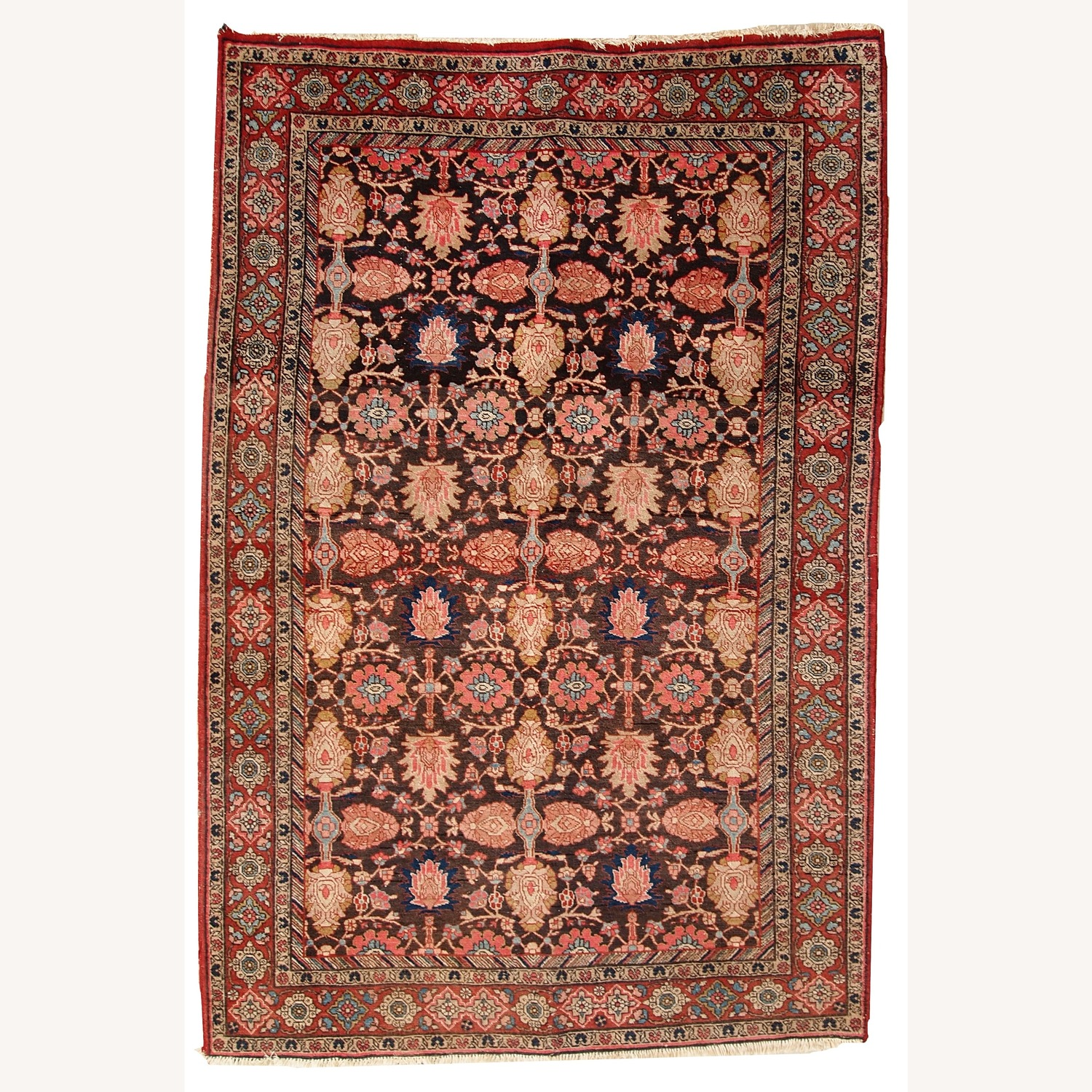 Handmade Antique Persian Bidjar Rug - image-1