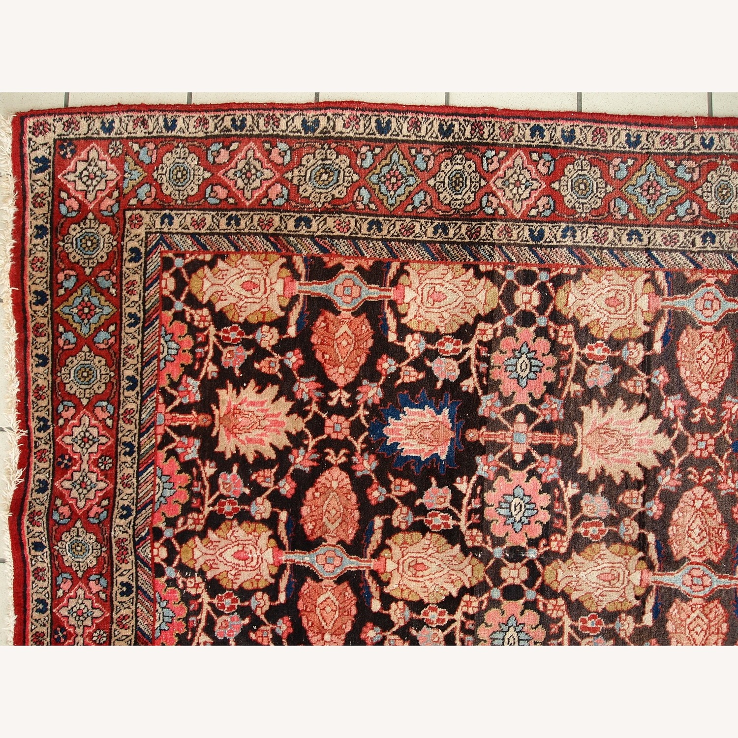 Handmade Antique Persian Bidjar Rug - image-13