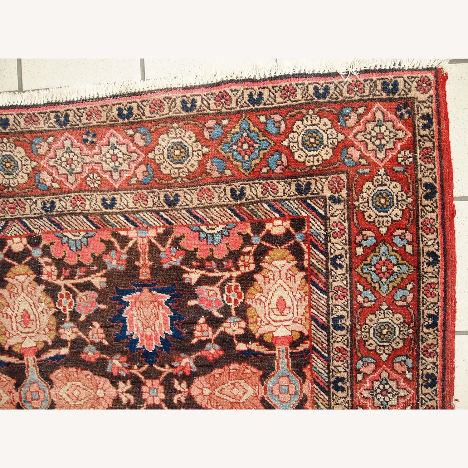 Handmade Antique Persian Bidjar Rug - image-14