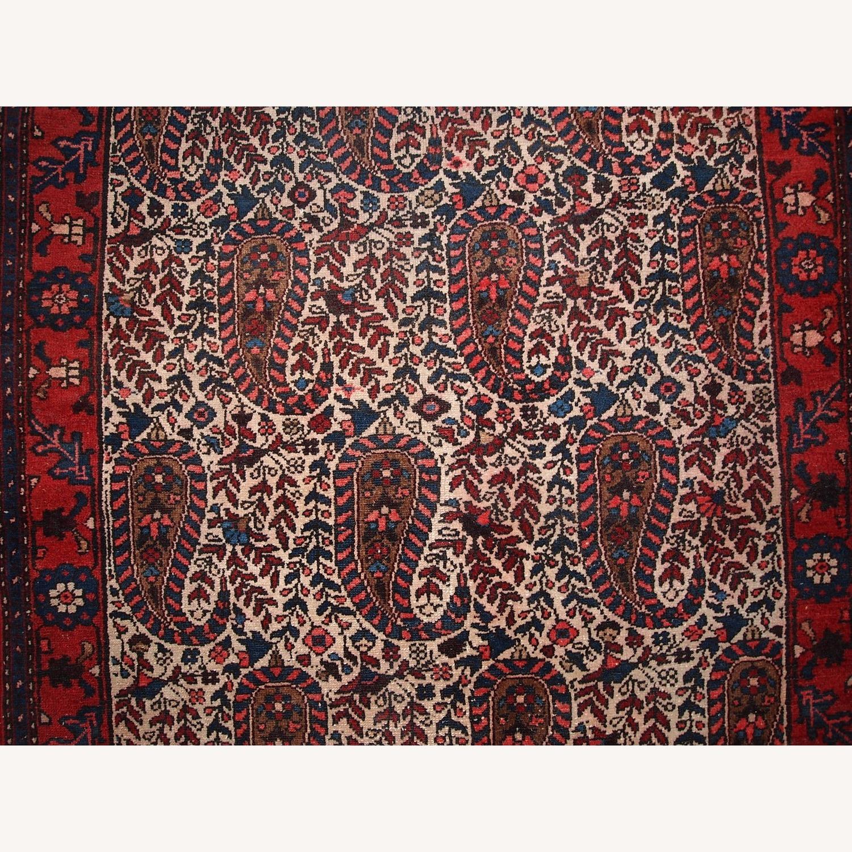 Handmade Vintage Persian Malayer Rug - image-6