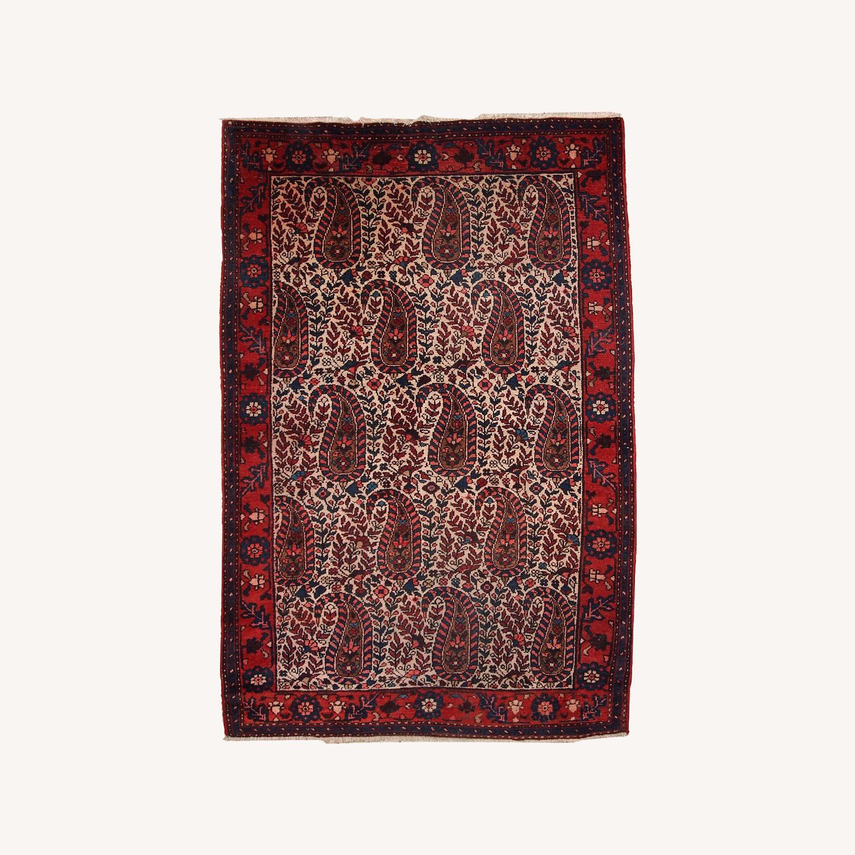 Handmade Vintage Persian Malayer Rug - image-0