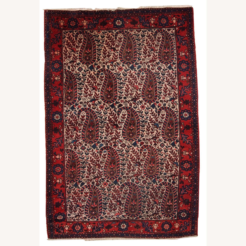 Handmade Vintage Persian Malayer Rug - image-1