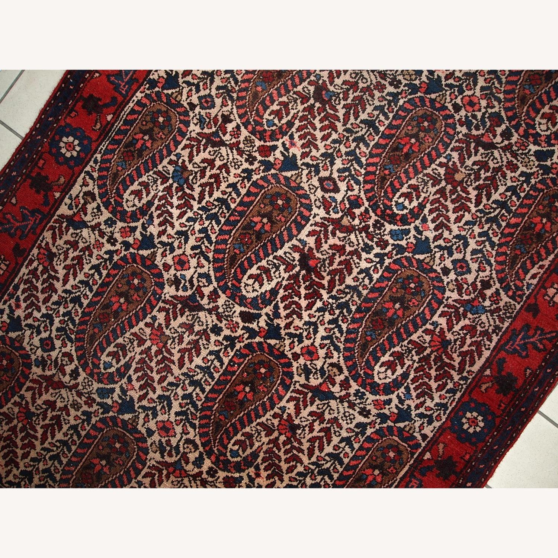Handmade Vintage Persian Malayer Rug - image-11