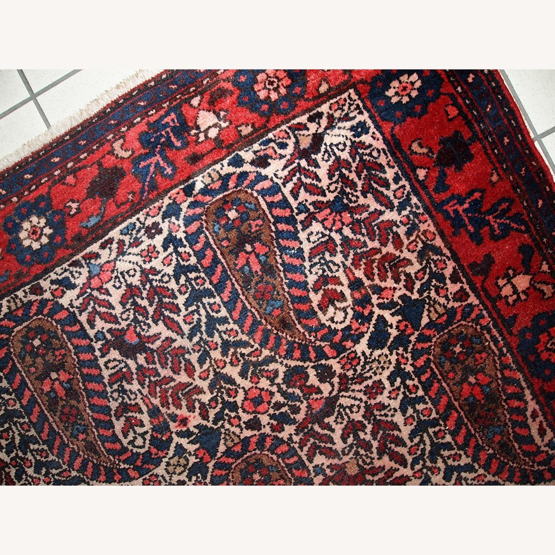 Handmade Vintage Persian Malayer Rug - image-9