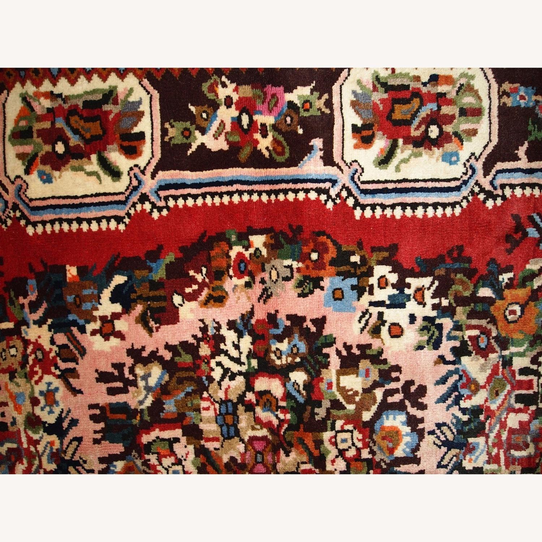 Handmade Vintage Persian Bakhtiari Rug - image-9