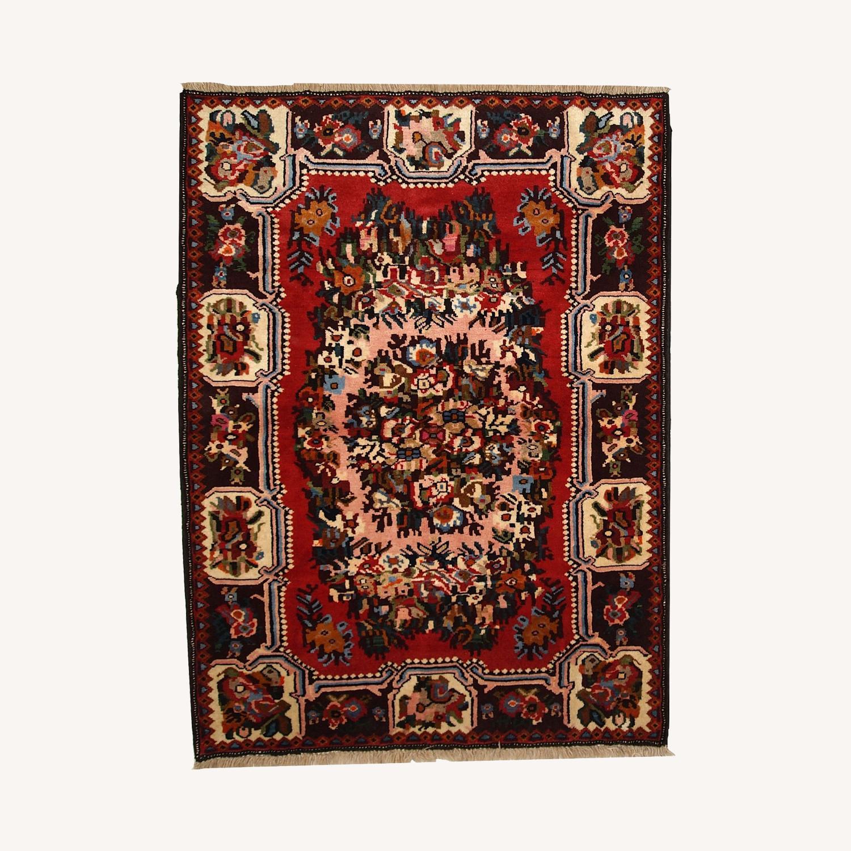 Handmade Vintage Persian Bakhtiari Rug - image-0