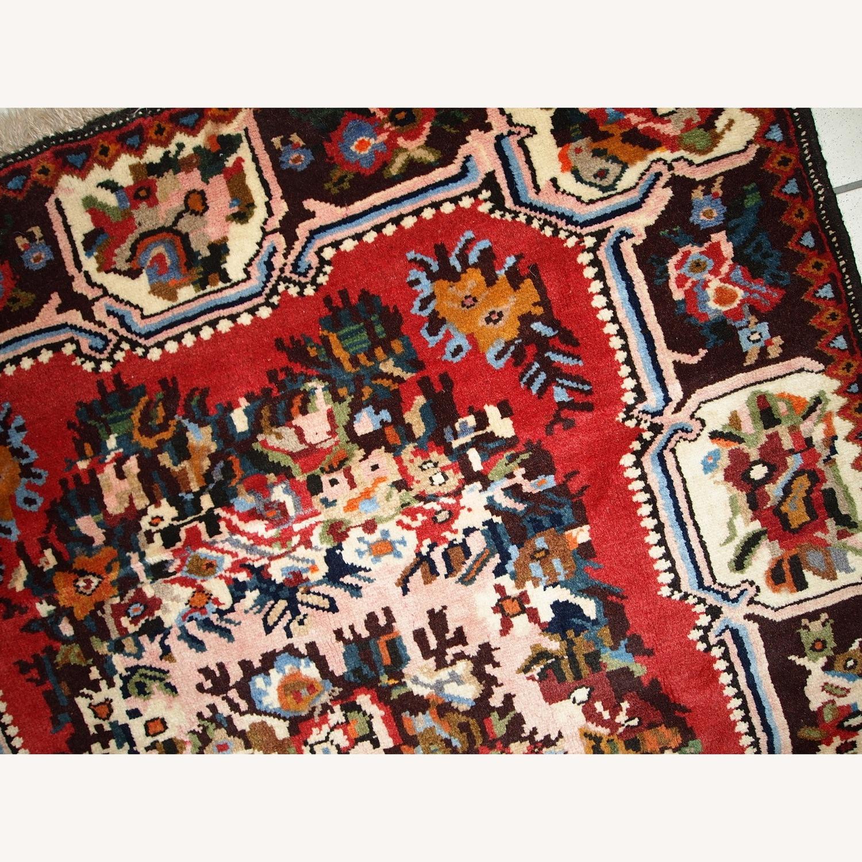 Handmade Vintage Persian Bakhtiari Rug - image-7