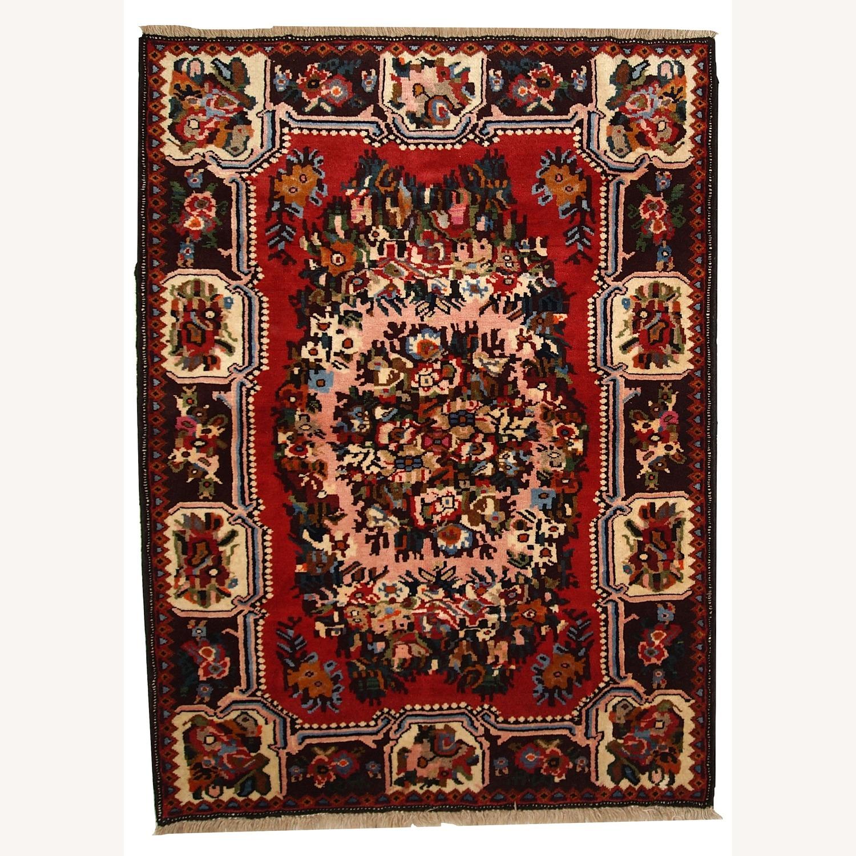 Handmade Vintage Persian Bakhtiari Rug - image-1