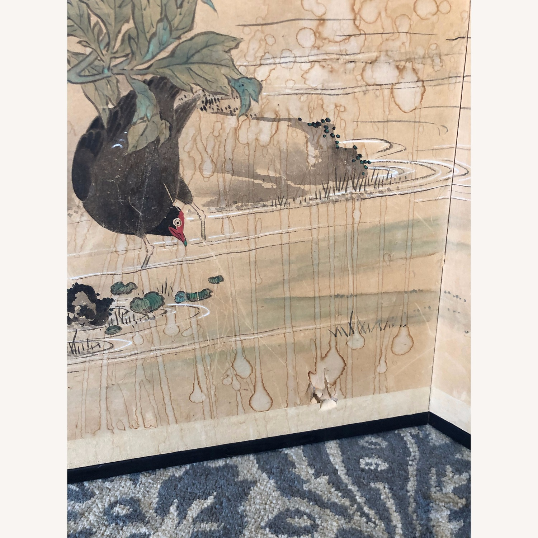 Vintage Japanese Rice Paper Screen - image-3
