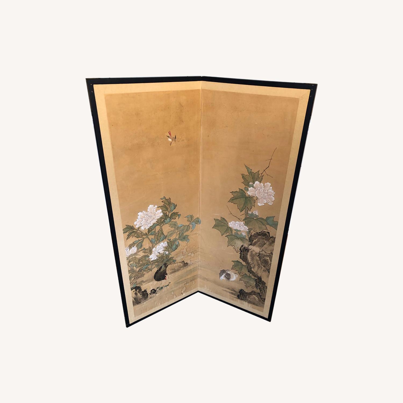 Vintage Japanese Rice Paper Screen - image-0
