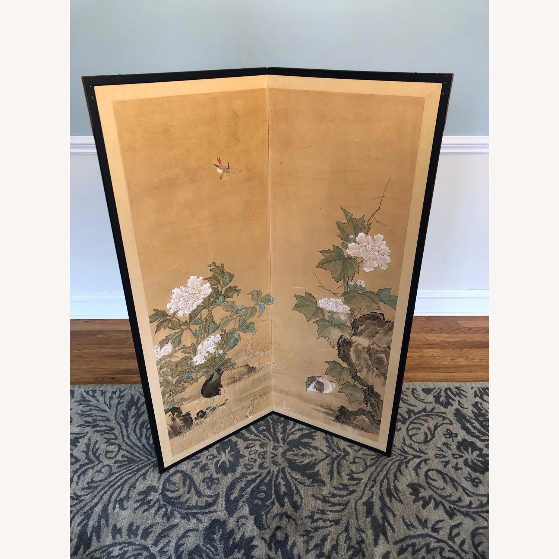 Vintage Japanese Rice Paper Screen - image-1