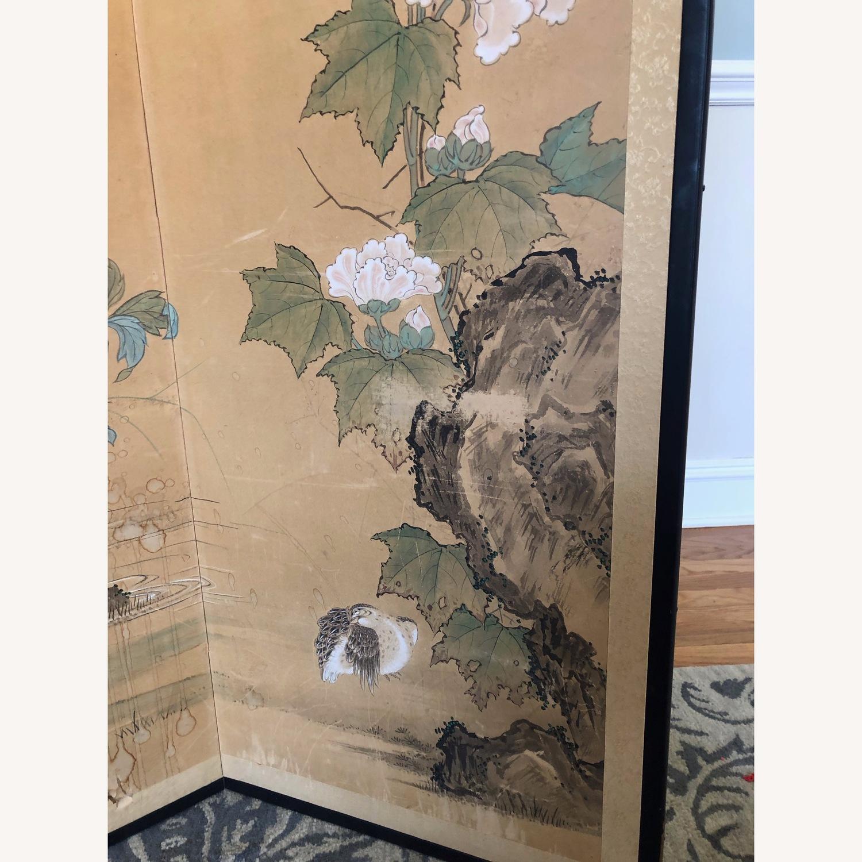 Vintage Japanese Rice Paper Screen - image-4