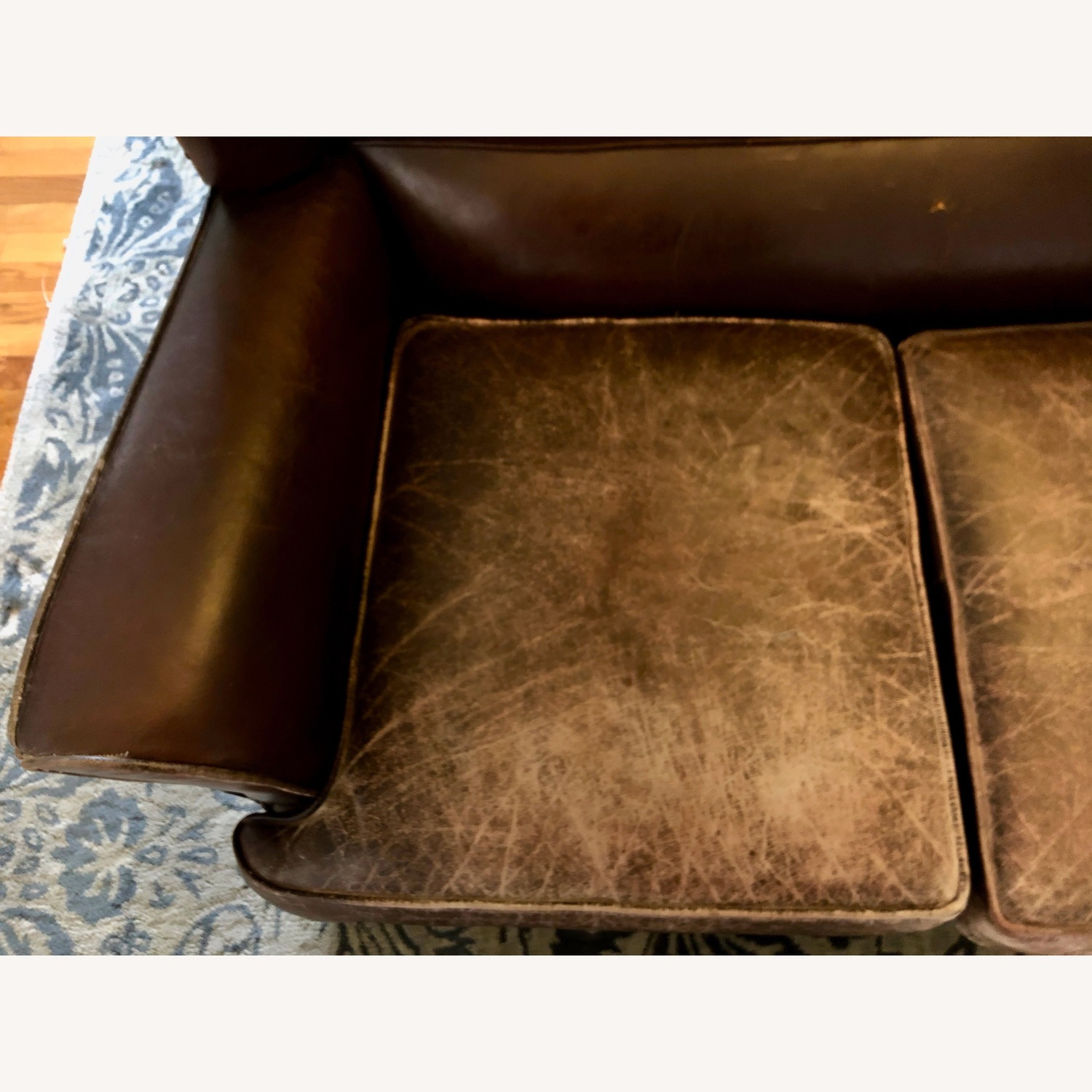 Vintage 1920s French Leather Sofa - image-2