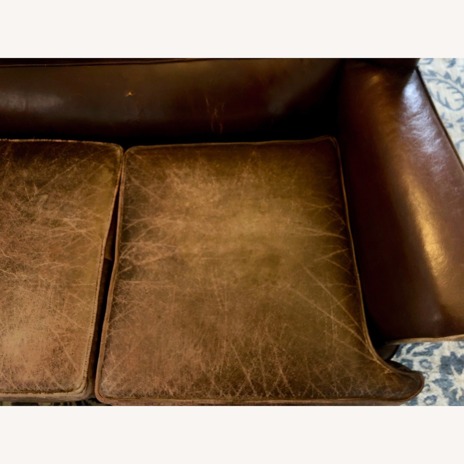 Vintage 1920s French Leather Sofa - image-6