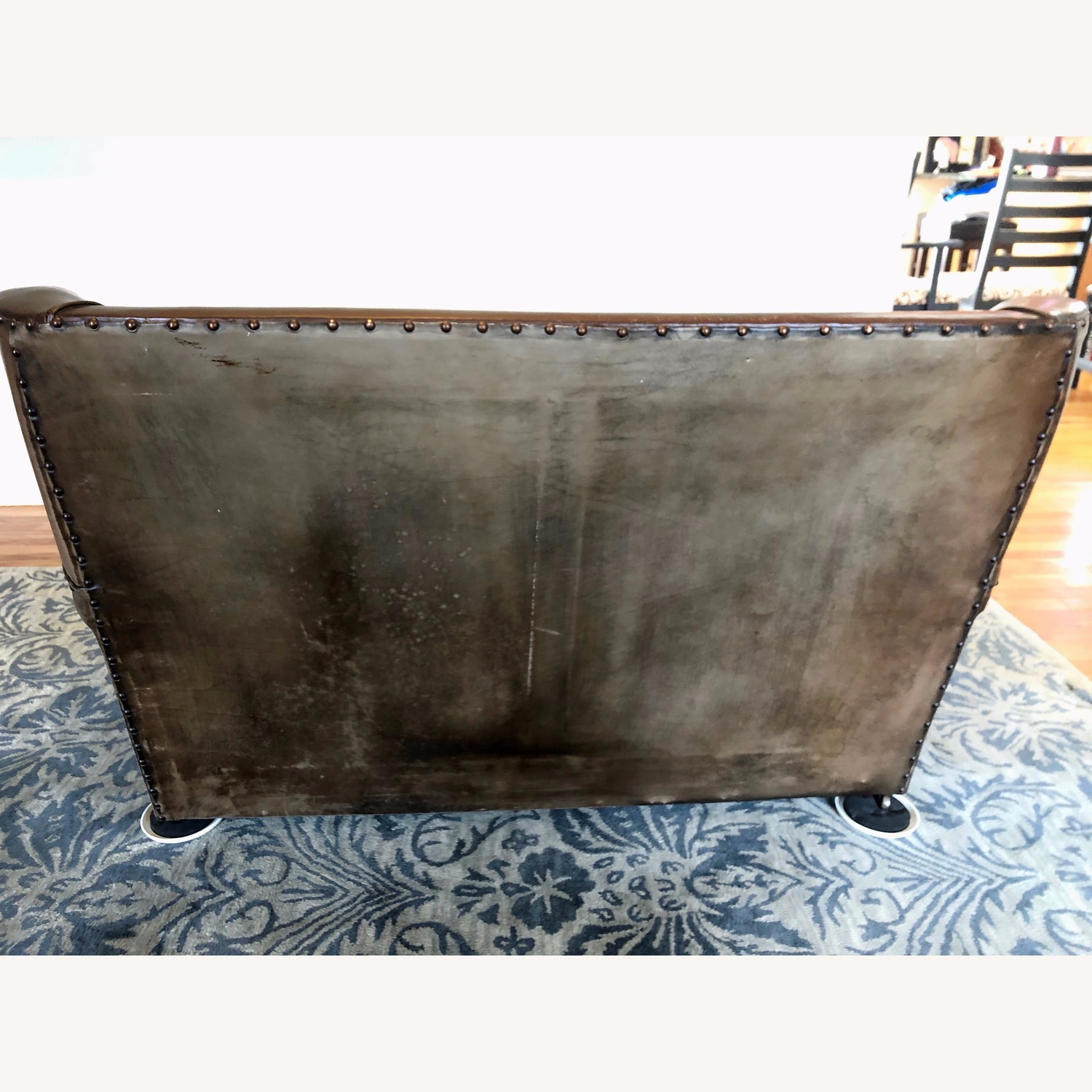 Vintage 1920s French Leather Sofa - image-5