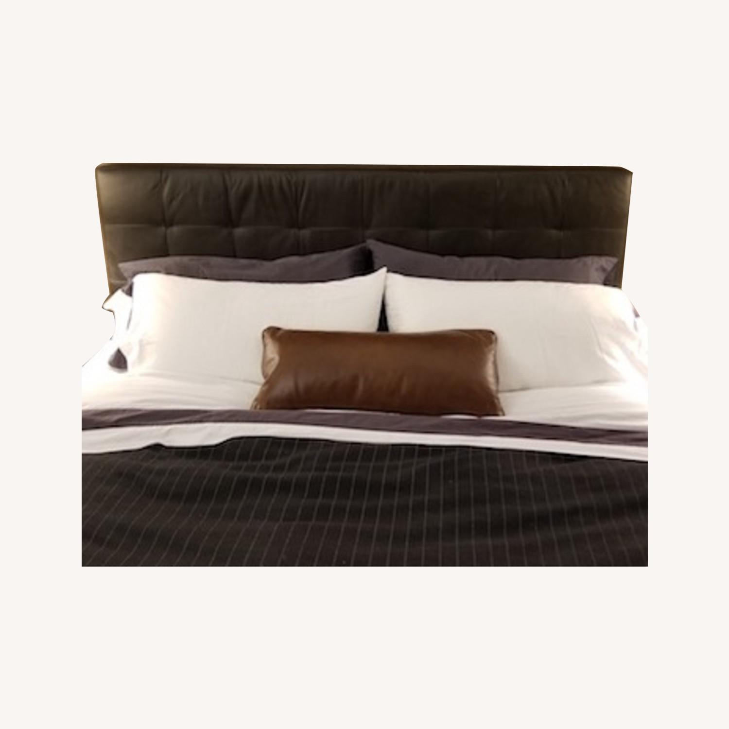 Charles P. Rogers King Leather Headboard - image-0