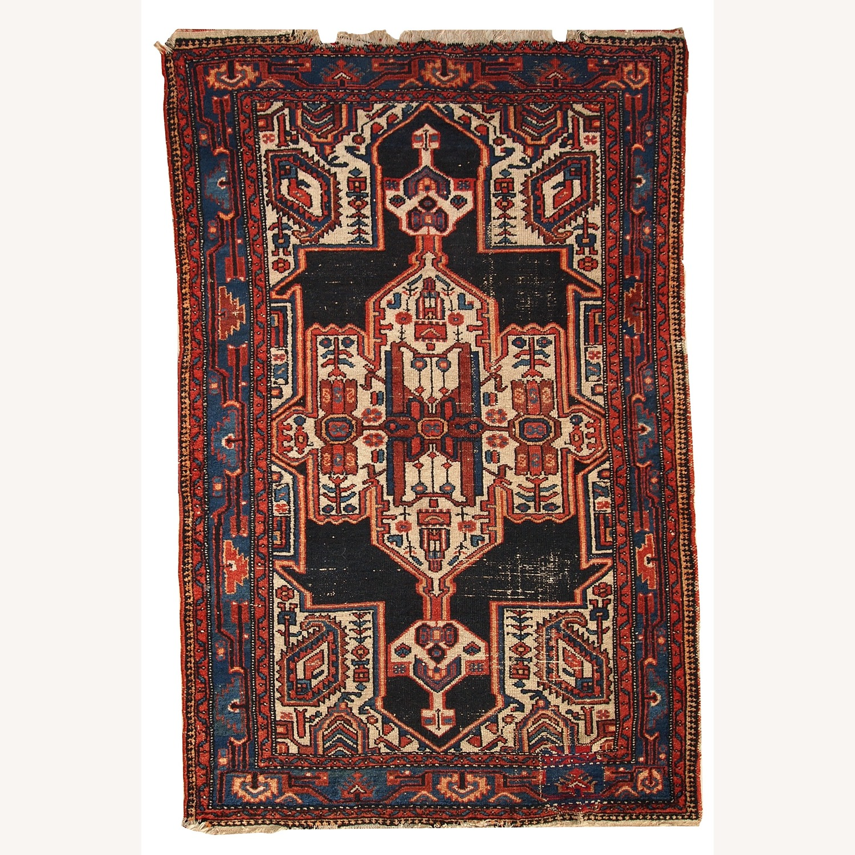 Handmade Antique Persian Hamadan Rug - image-1