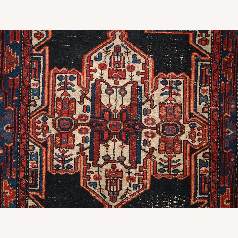 Handmade Antique Persian Hamadan Rug - image-7