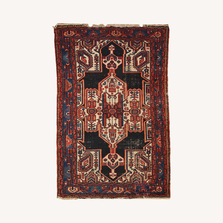Handmade Antique Persian Hamadan Rug - image-0