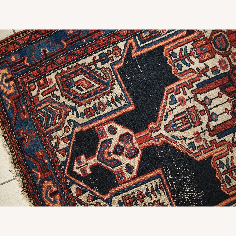 Handmade Antique Persian Hamadan Rug - image-5