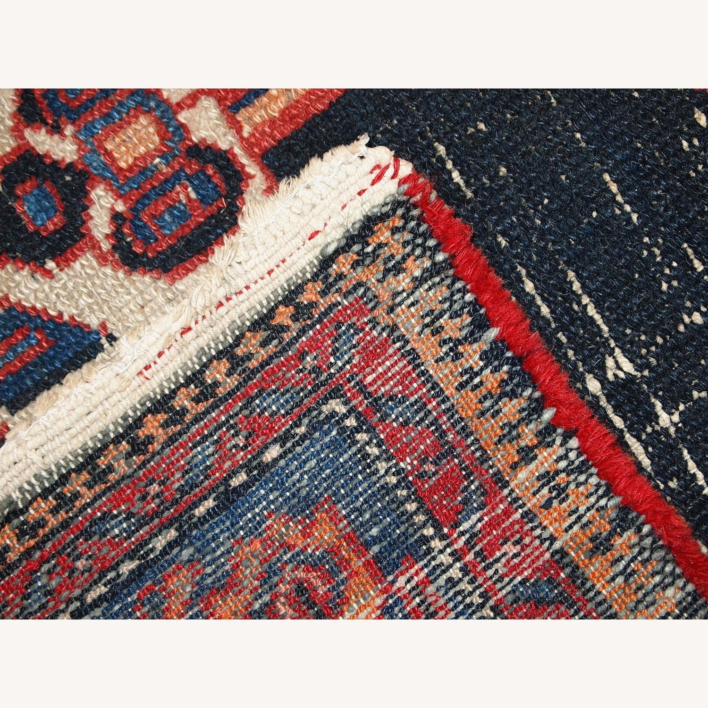 Handmade Antique Persian Hamadan Rug - image-4