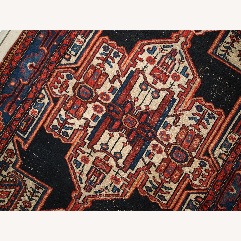 Handmade Antique Persian Hamadan Rug - image-8